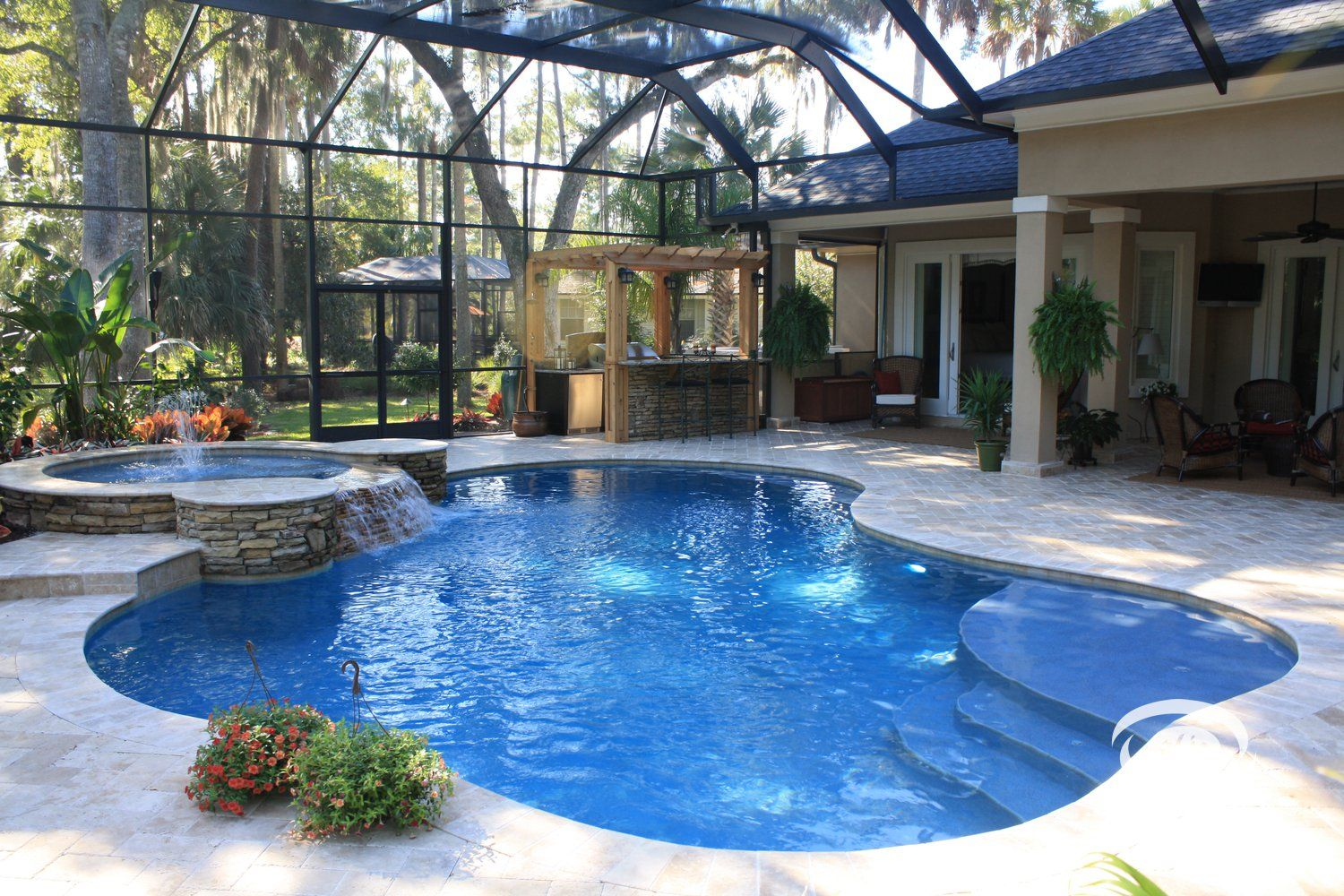 Freeform Pool By Pools By John Clarkson Florida Pool Indoor Outdoor Pool Luxury Swimming Pools
