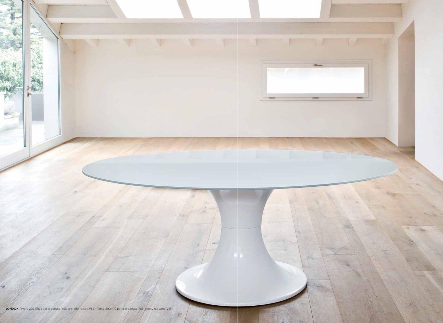 Tavolo Estetista ~ Mod london tavolo ovale con basamento centrale in
