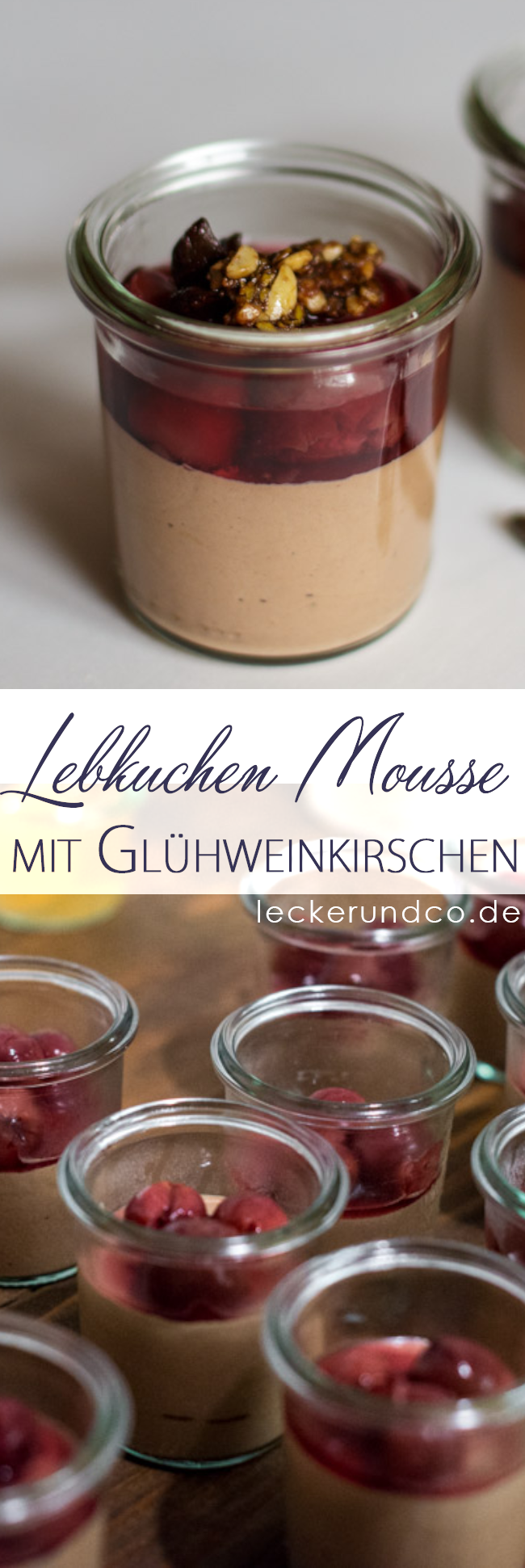lebkuchen mousse mit gl hwein kirschen und nusskrokant. Black Bedroom Furniture Sets. Home Design Ideas