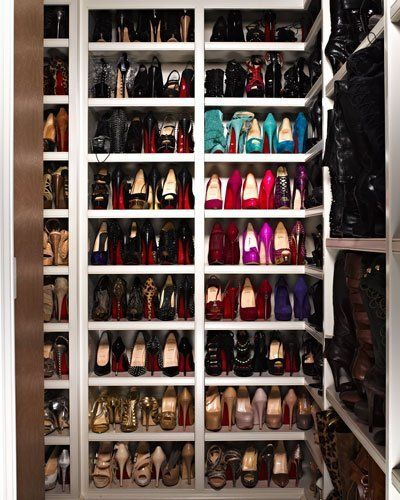 Shoe closet of my dreams... all the red louboutins!!!