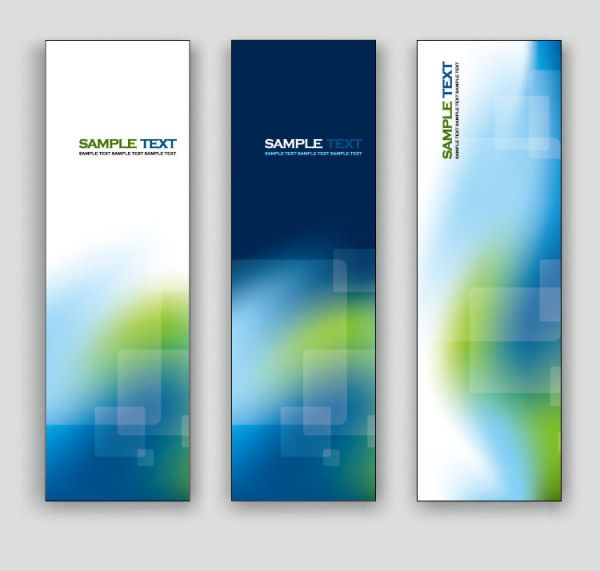 exquisite vertical banner design vector 02 over millions vectors