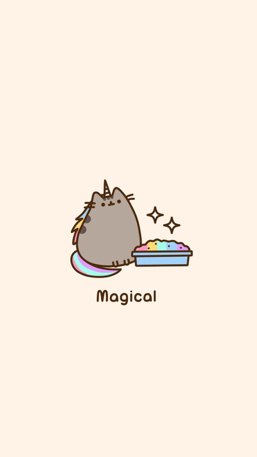 Unicorn Rainbow Pusheen Wallpaper
