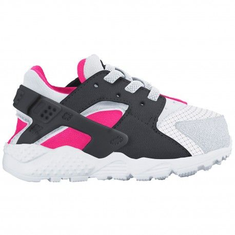 toddler nike huarache,Nike Huarache Run - Girls' Toddler - Running - Shoes  - White/Hyper Pink/Black/Anthracite-sku:04952104