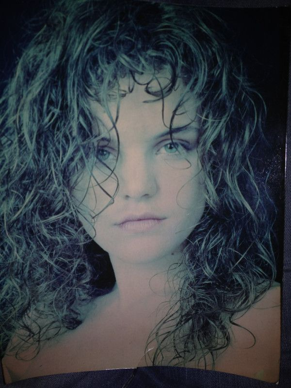 Pauley Perrette Old Model Pic 15 Blonde Curly Haired Serious