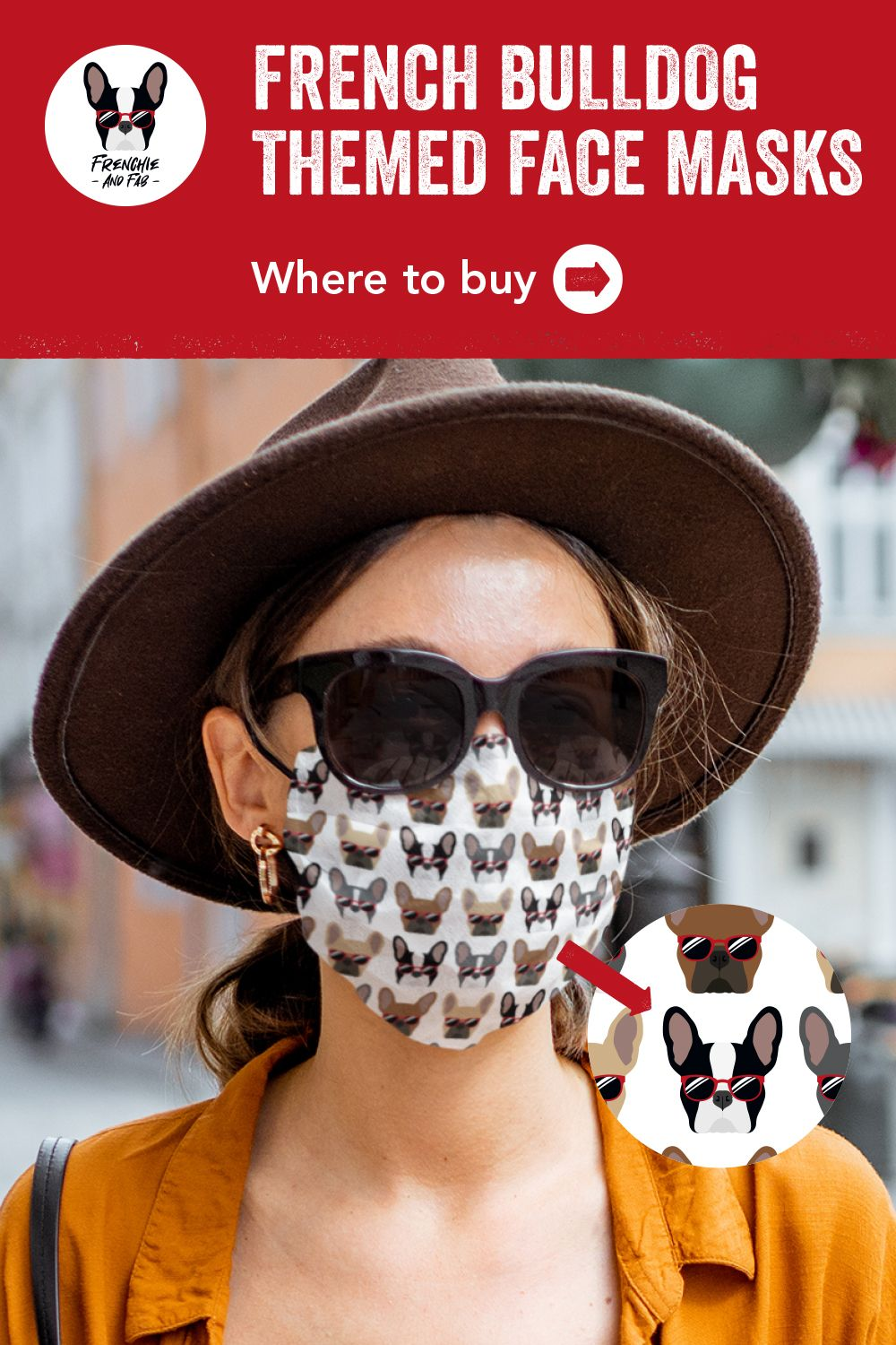 French Bulldogs Wearing Sunglasses Pattern Cloth Face Mask Zazzle Co Uk In 2020 Face Mask French Bulldog Red Sunglasses
