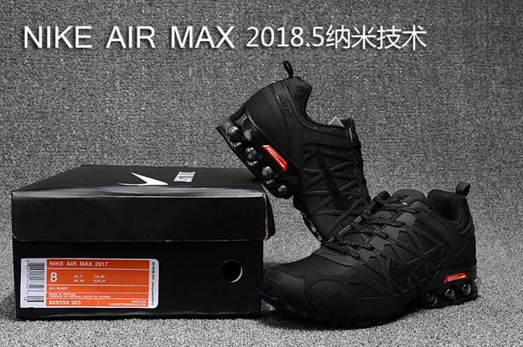 check out 03cd7 ef5c0 2018.5 Nike Air Max Hot Run Shoes All Black For Men | Nike ...
