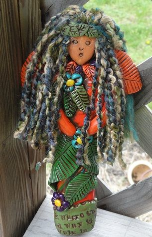 The Leaf Princess: art doll.