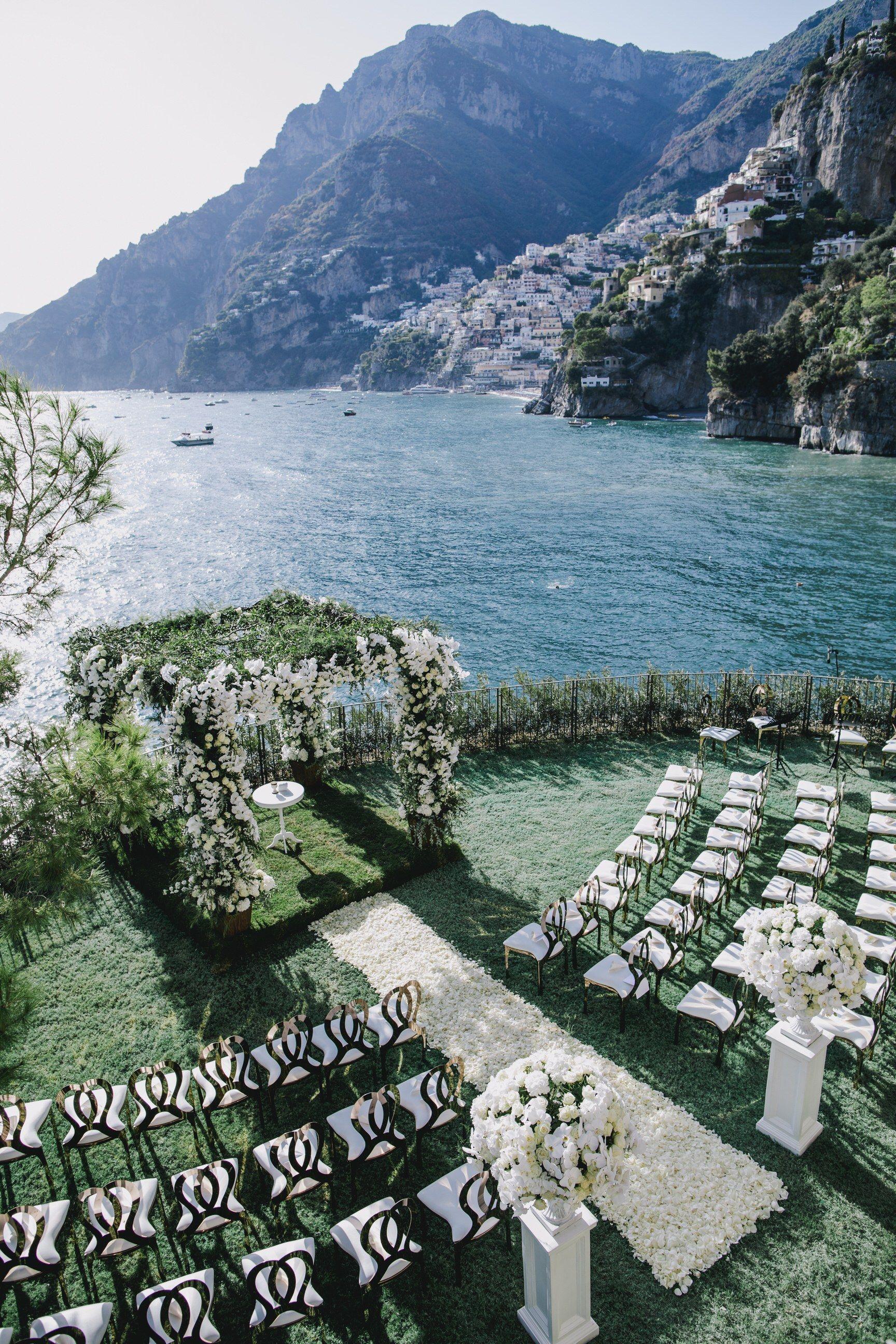 Wedding decorations venue october 2018 This Positano is OvertheTop Amazing in   Dream Wedding