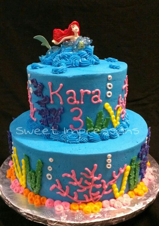 Ariel the Little Mermaid Cake My Cakes My work www