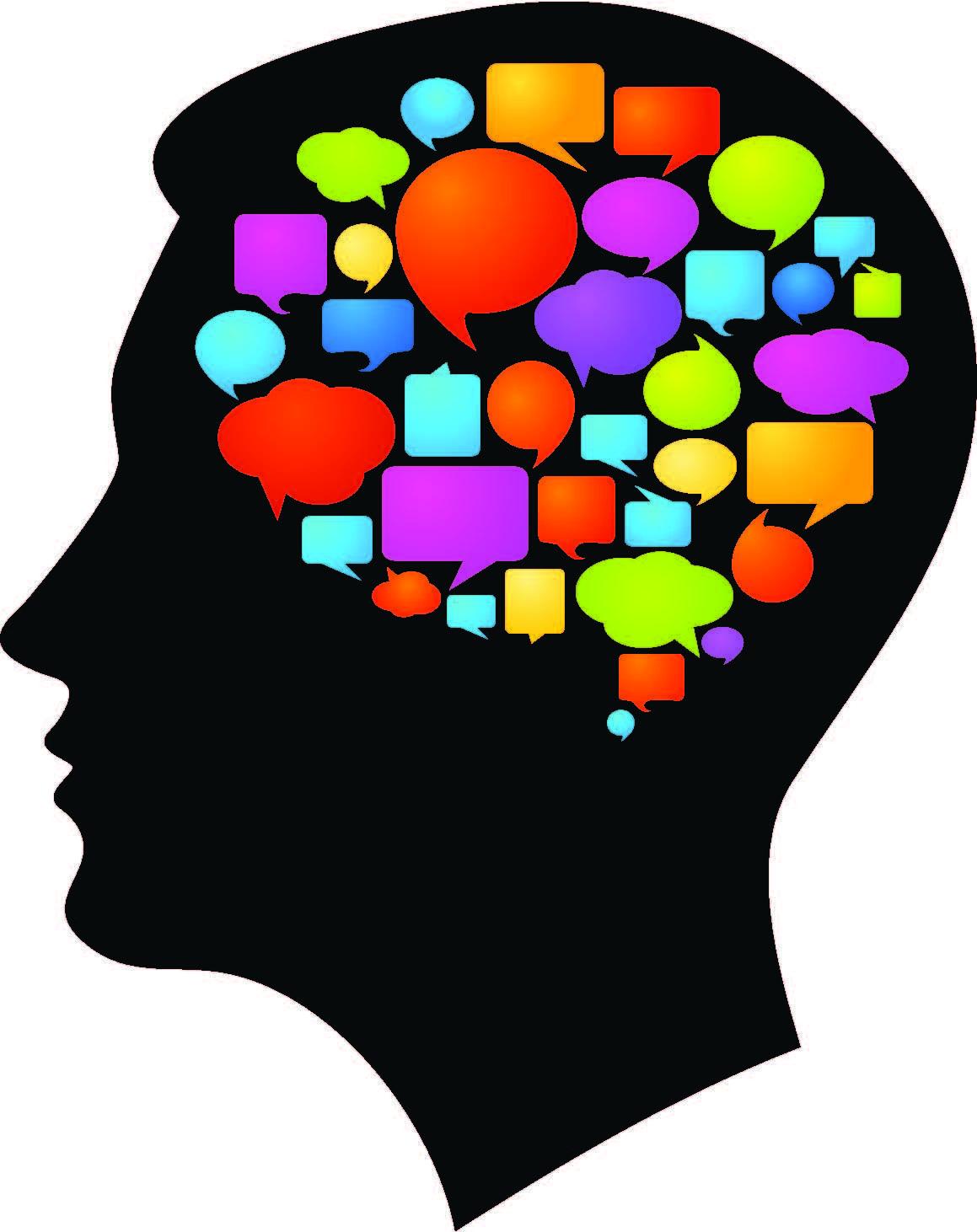 Imagen de un cerebro moderno MULTITASKING away ...todo el dia