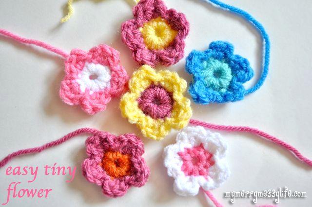 Crochet Easy Tiny Flower Free Crochet Pattern Tiny Flowers Free