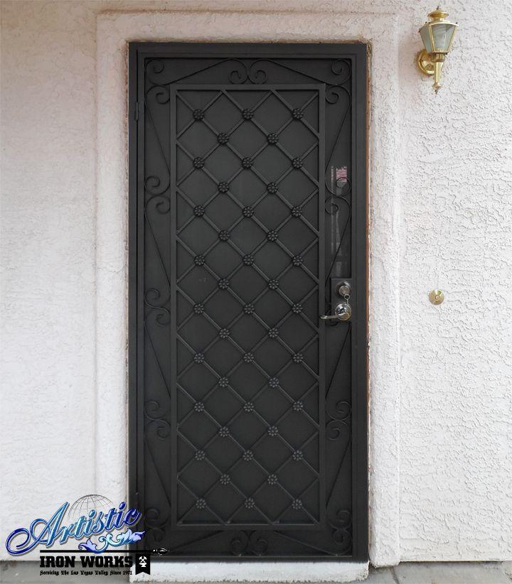 Marrakesh wrought iron security screen door model for Wrought iron security doors