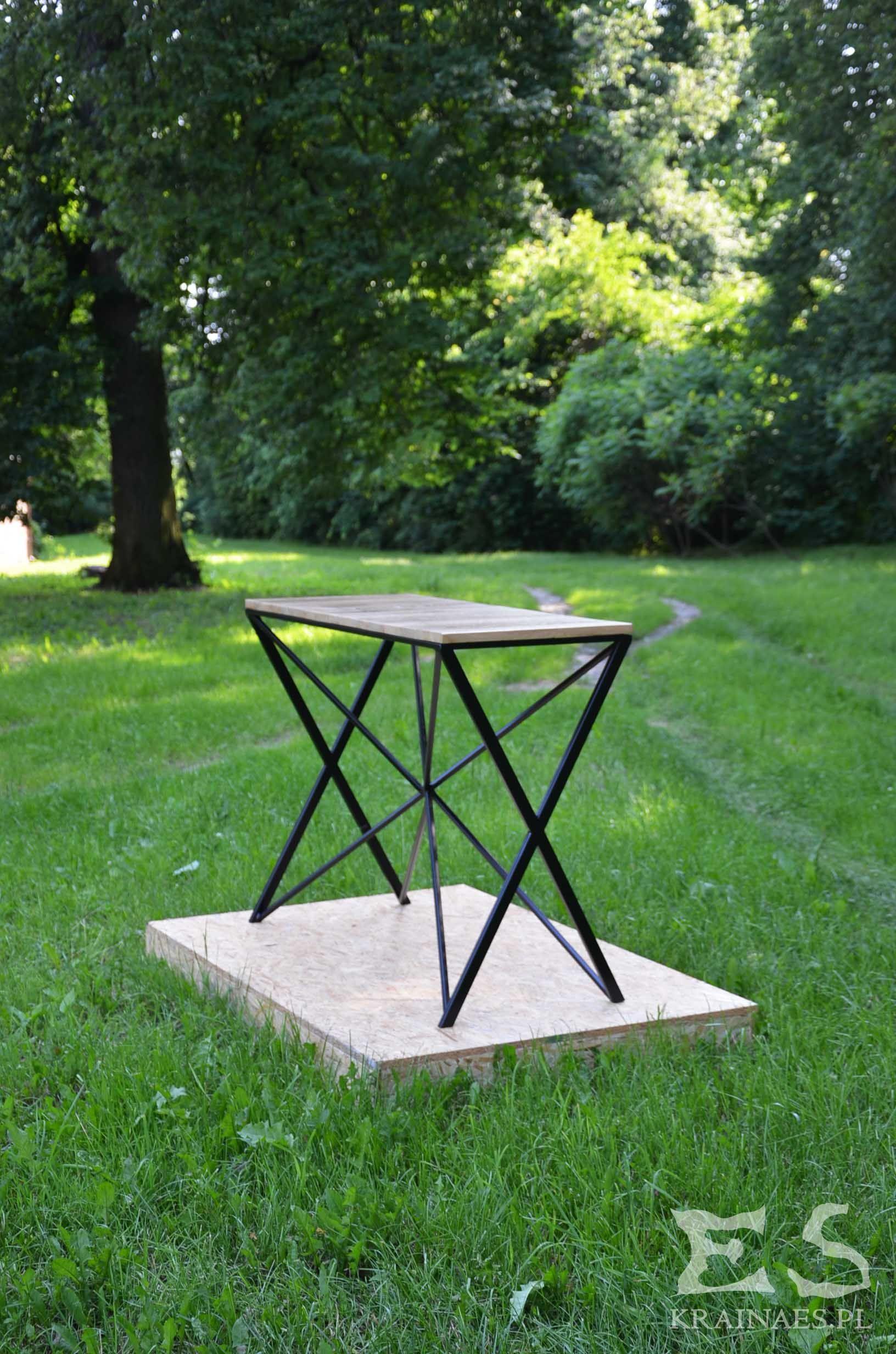 Coffee table, table, iron, wood, oak, industrial