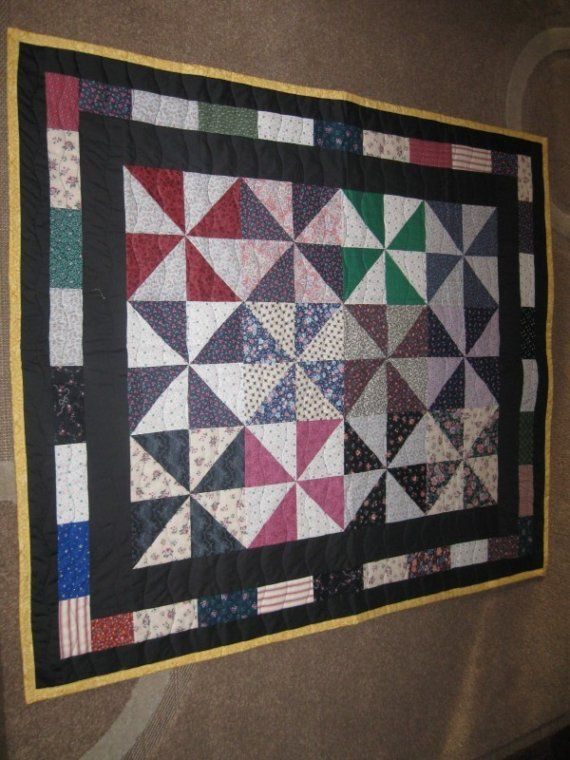 pinwheel lap/baby quilt by Upnorthcrafter on Etsy, $75.00
