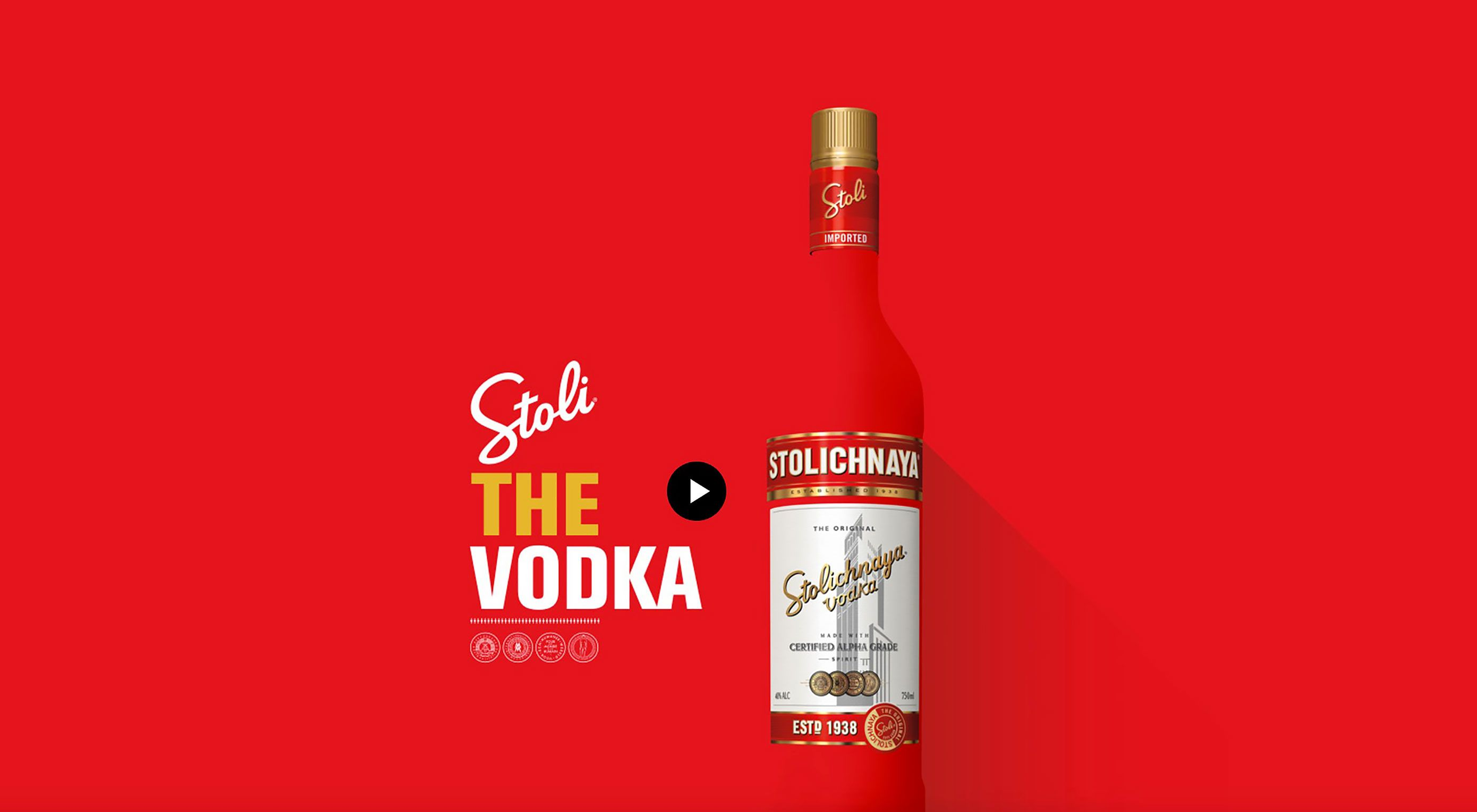 Stoli Vodka Redesigns Website With Pop Art Focus Stoli Vodka Vodka News Web Design