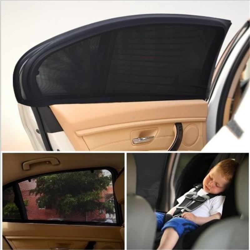 2pcs/set Black Adjustable Auto Car Side Rear Window Sun