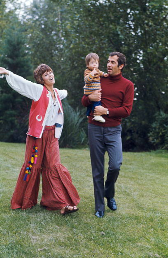 Jane Fonda and Roger Vadim with their daughter Vanessa ...