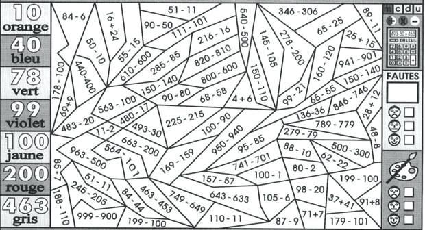 Image for coloriage magique soustraction sans retenue rb38 - Coloriage magique calcul ce1 ...