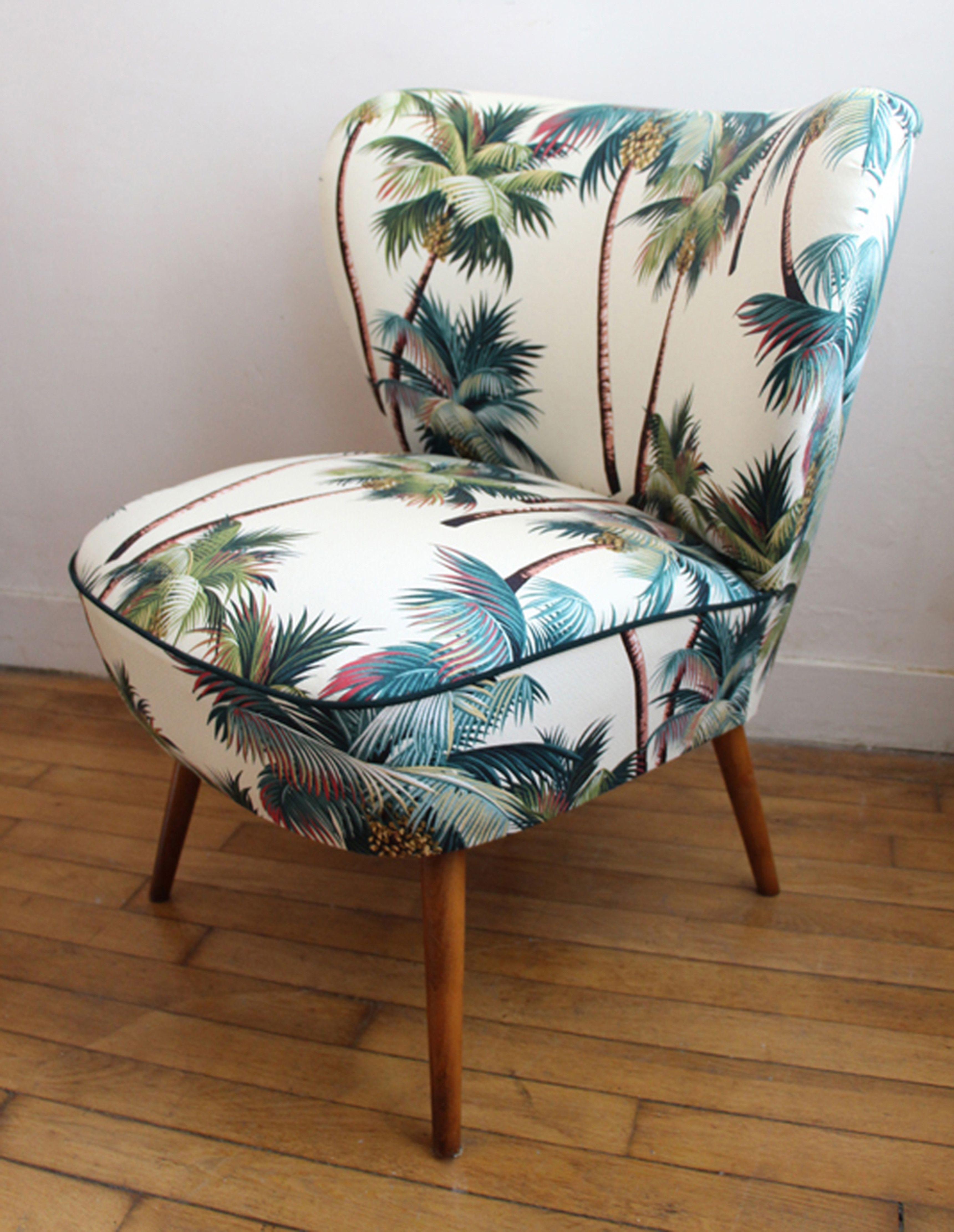 Hawaiian Upholstery Fabric: #Palmtree #tropical #home #office #furniture