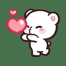 Milk Daily Emoji Line Emoji Line Store Cute Bear Drawings Cute Drawings Of Love Cute Love Gif