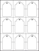 image relating to Free Printable Blank Gift Tags called tag template (phrase and pdf formats obtainable) present tags
