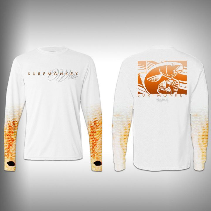 205cb9c3c01c Redfish Scale Sleeve Shirt - SurfMonkey - Performance Shirts - Fishing Shirt