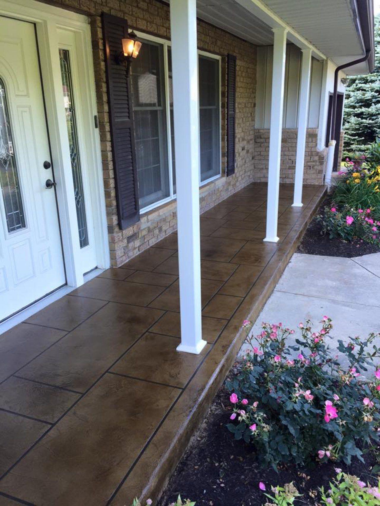 Concrete Porch With Ling Paint