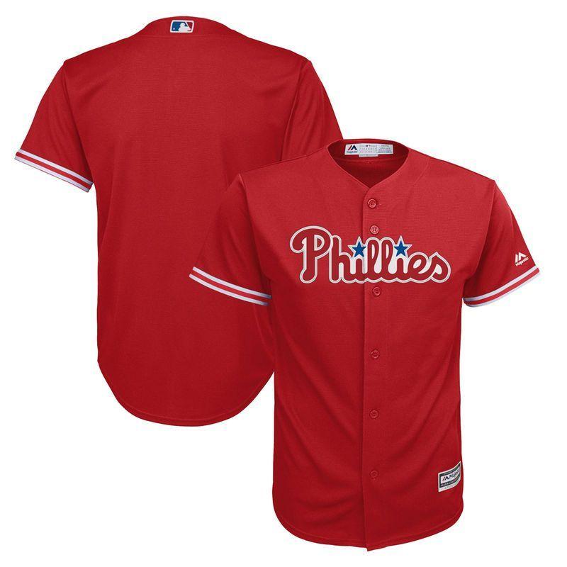Philadelphia Phillies Majestic Preschool Fashion Official Cool Base Team  Jersey - Scarlet 0050d1e6101