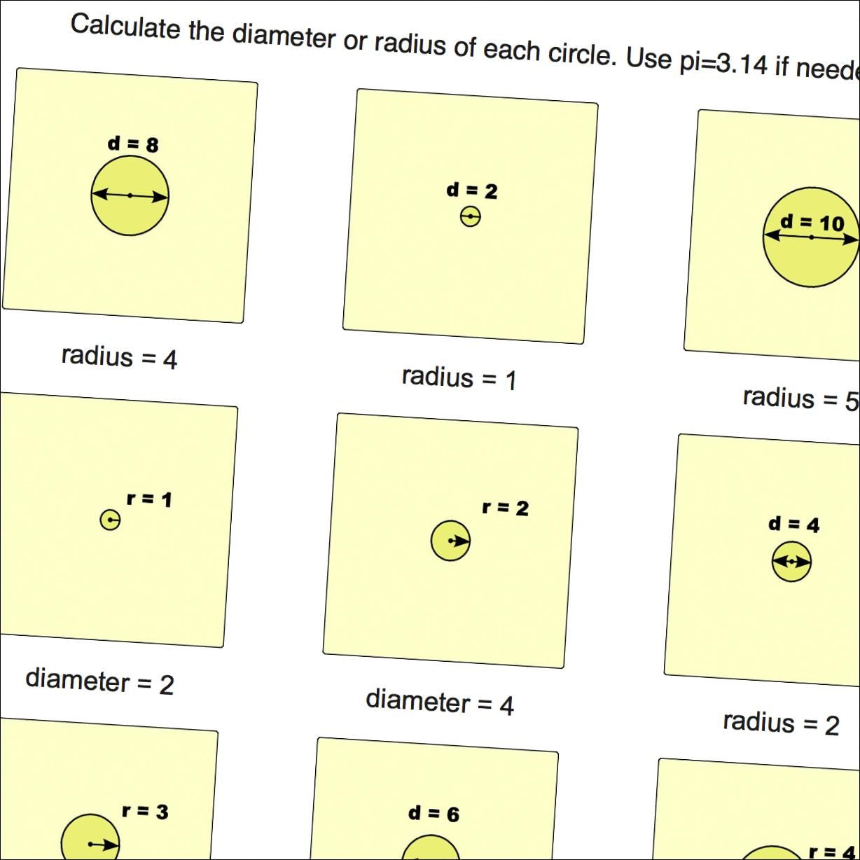 Math Worksheets Circles