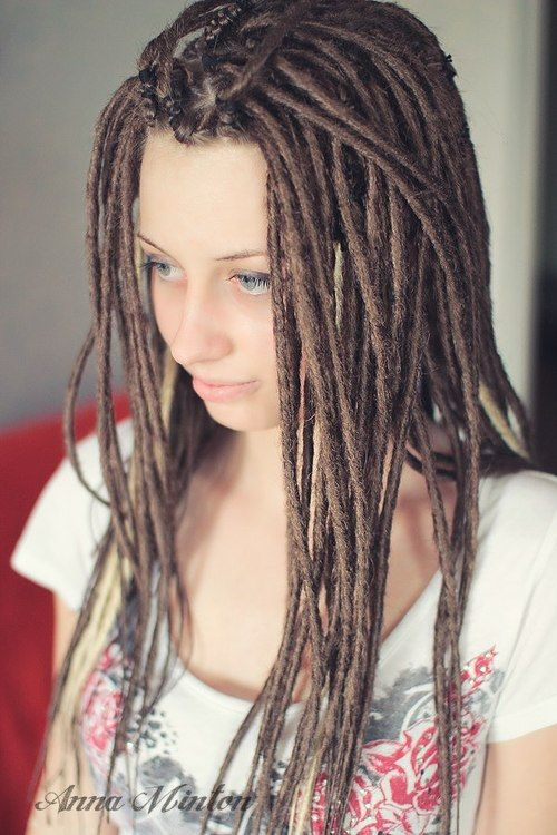 Love This Size Dreads I Will Have Some Day When I M Not Chicken And Just Do It Already Haha Beautiful Dreadlocks Dreadlocks Girl Hair Styles