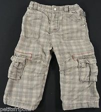 Pantalon carreaux gris doublé jersey Orchestra 18 mois garçons