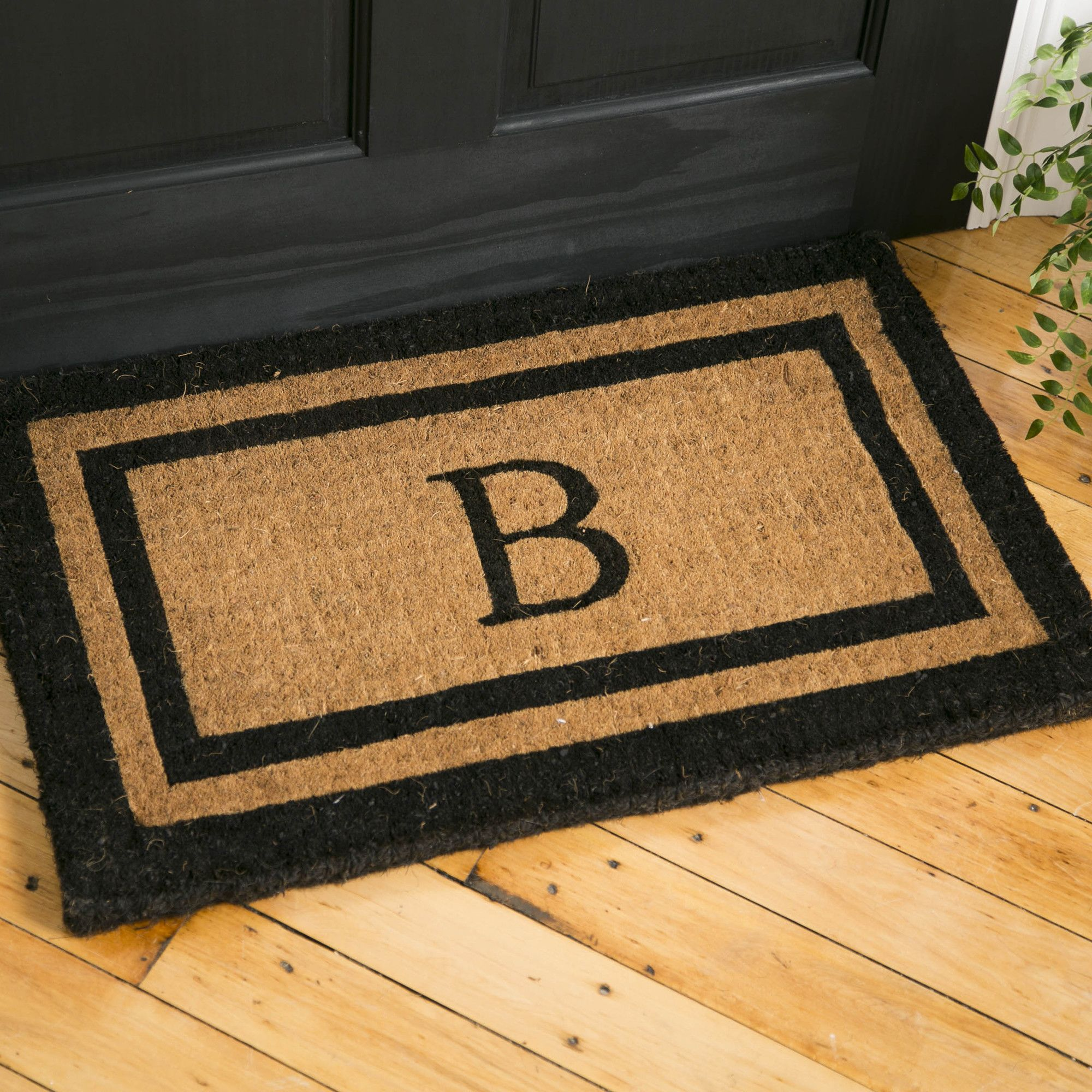 Classic Monogrammed Welcome Mat | Welcome Guests With This Traditional  Hand Screened Doormat. A