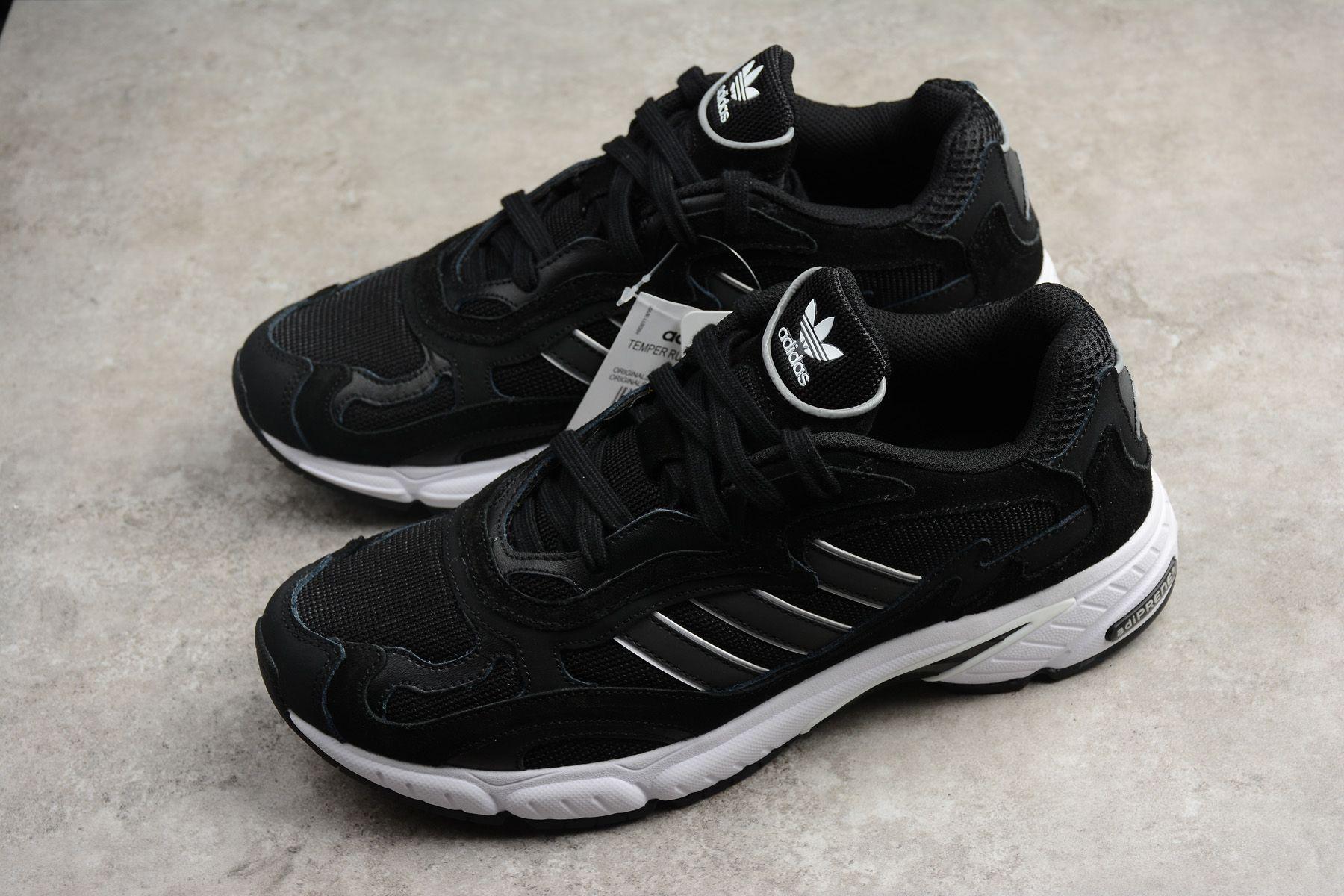 check out 69500 17105 New adidas Temper Run Black White F36311 For Sale