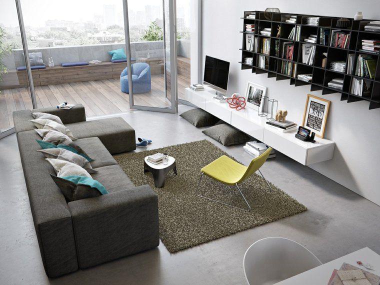 Déco moderne pour le salon  85 idées avec canapé gris Salons - decoration de salon moderne
