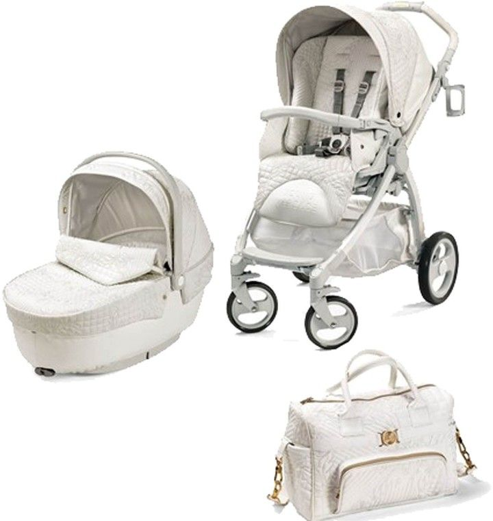 Young Versace Baby White Stroller And Travel Set 3 Piece Baby