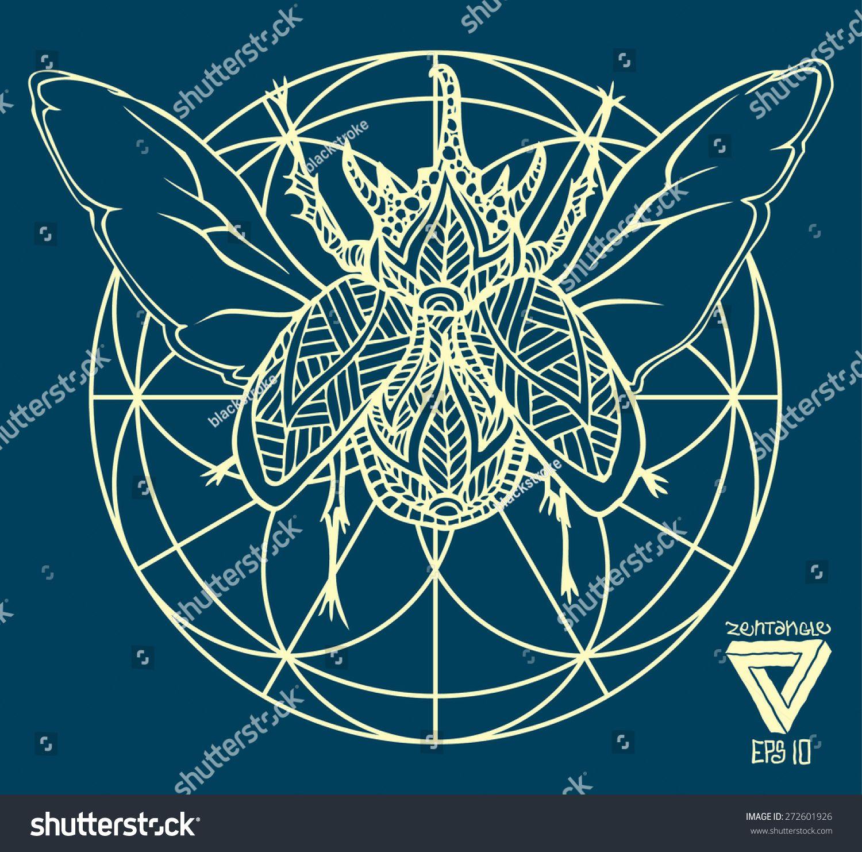 Zentangle Sacred Geometry Lineart Vector Bug