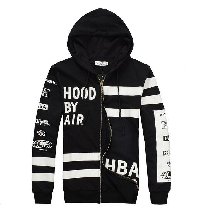 HBA Sweatshirt New Brand HBA HOOD BY AIR Printing Hooded Fashion Couples  Casual K-pop Hoodie K pop Clothing HBA Men Women kpop