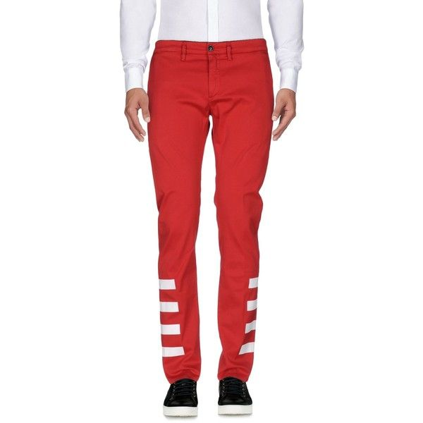 Department 5 Casual Pants ($130) ❤ liked on Polyvore featuring men's fashion, men's clothing, men's pants, men's casual pants, red, mens red chino pants, mens chino pants, mens zipper pants, mens chinos pants and mens zip off pants