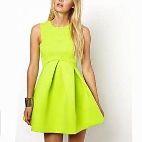 Women's Candy Color Strap Dress Cocktail Dresses