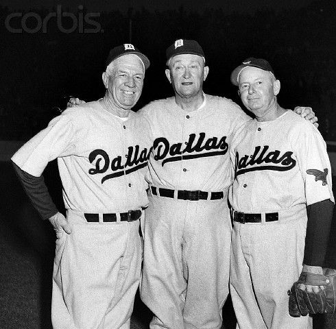 Tris Speaker, Ty Cobb and Duffy Lewis 1950