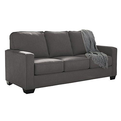 Ashley Zeb 3590136 76 Full Size Pullout Sofa Sleeper With Memory Foam Mattress Track Arms And