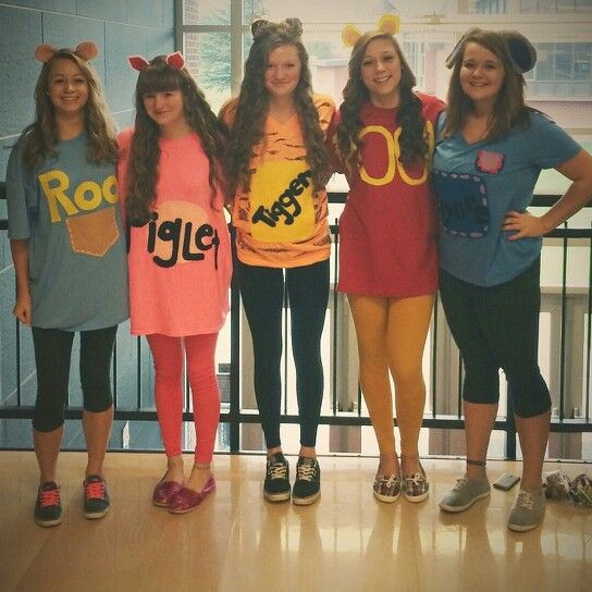 Disney day at school for spirit week! Winnie the pooh crew #characterdayspiritweek