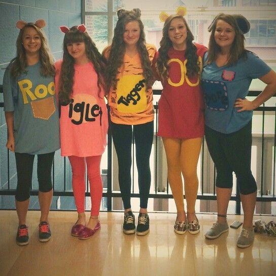Disney day at school for spirit week! Winnie the pooh crew Band