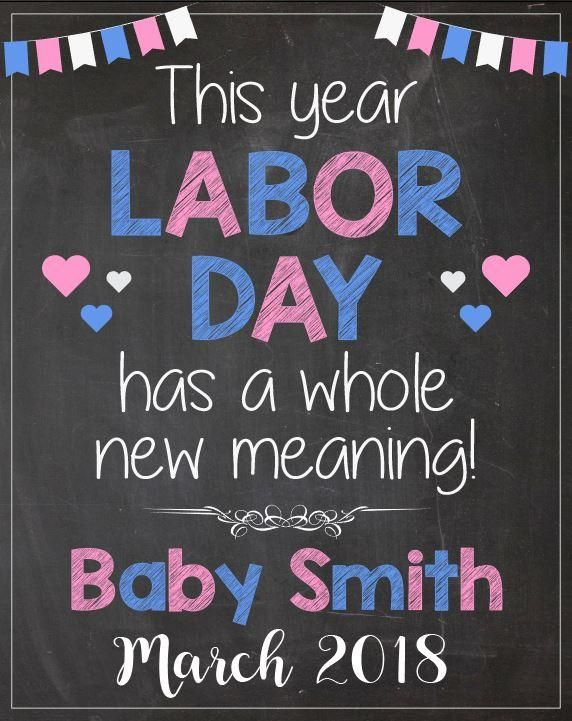 labor day pregnancy announcement sign announcement signs