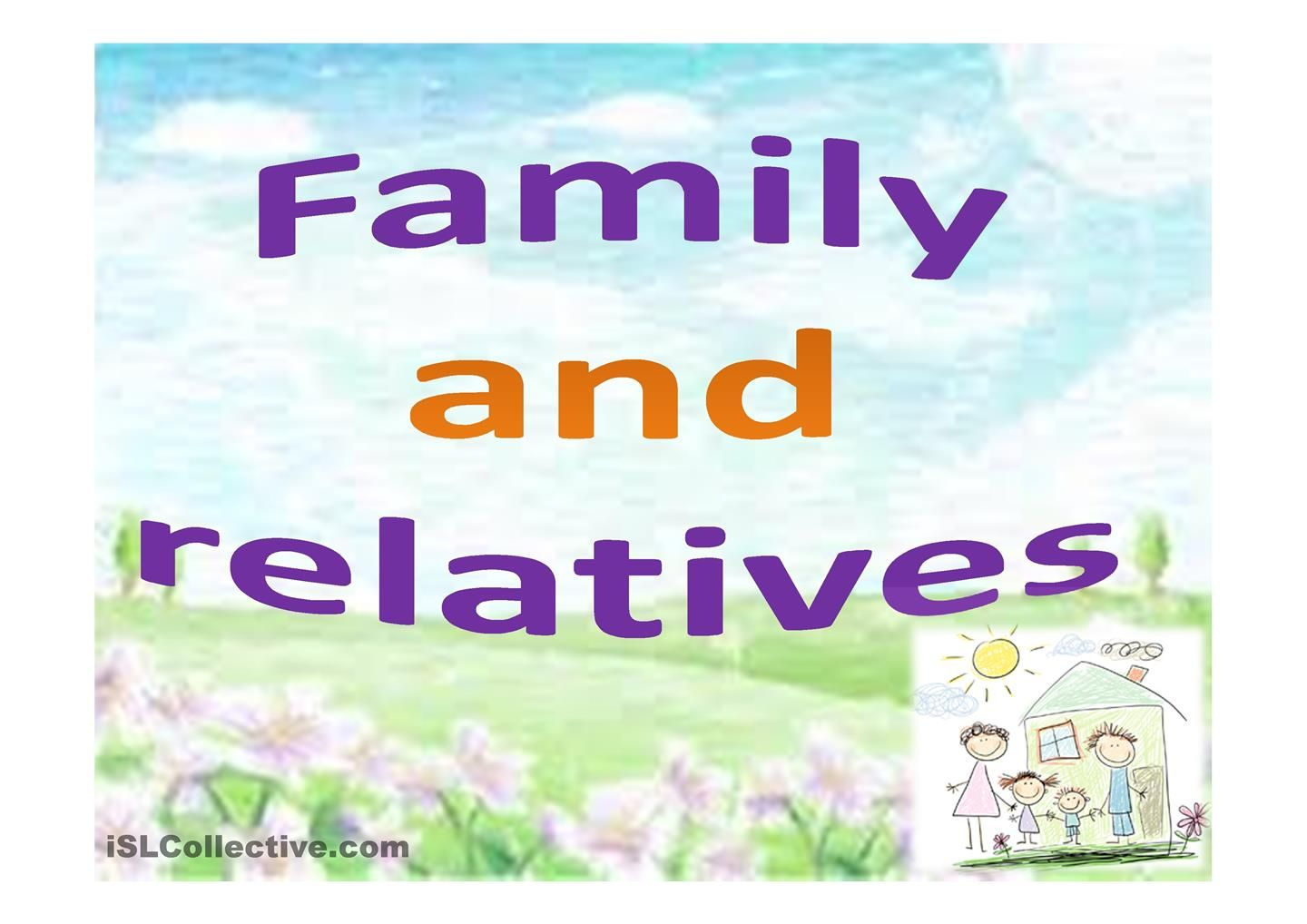 Family And Relatives Family Tree Esl Powerpoint