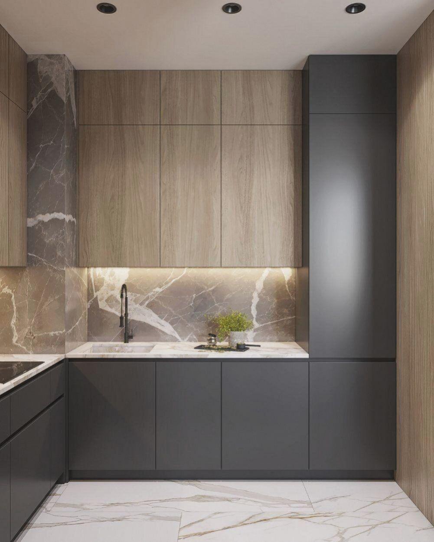 Innenraum des wohnzimmers und der küche in moskau auf behance ...