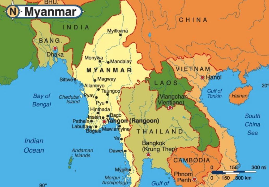 Myanmar On Map Of Asia.India Burma Thailand Super Highway Coming Myanmar Pinterest