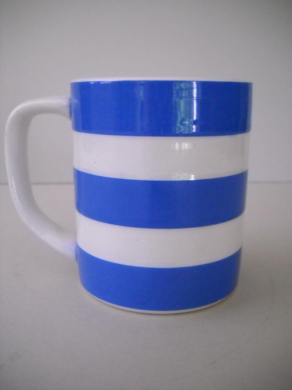 Vintage T.G. Green Blue u0026 White Stripe Cornish Kitchenware Cornishware Cornish Ware Coffee Mug Cup & Vintage T.G. Green Blue u0026 White Stripe Cornish Kitchenware ...