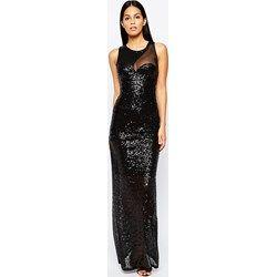 0049667fe2 City Goddess - Vestito lungo da cocktail in paillettes con inserto a ...