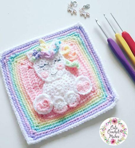 Unicorn Square in 2020 | Crochet unicorn, Crochet unicorn ...